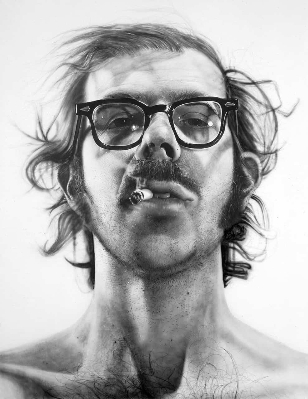 Chuck Close, Big Sel-Portrait, 1968 (273cm, 212cm)