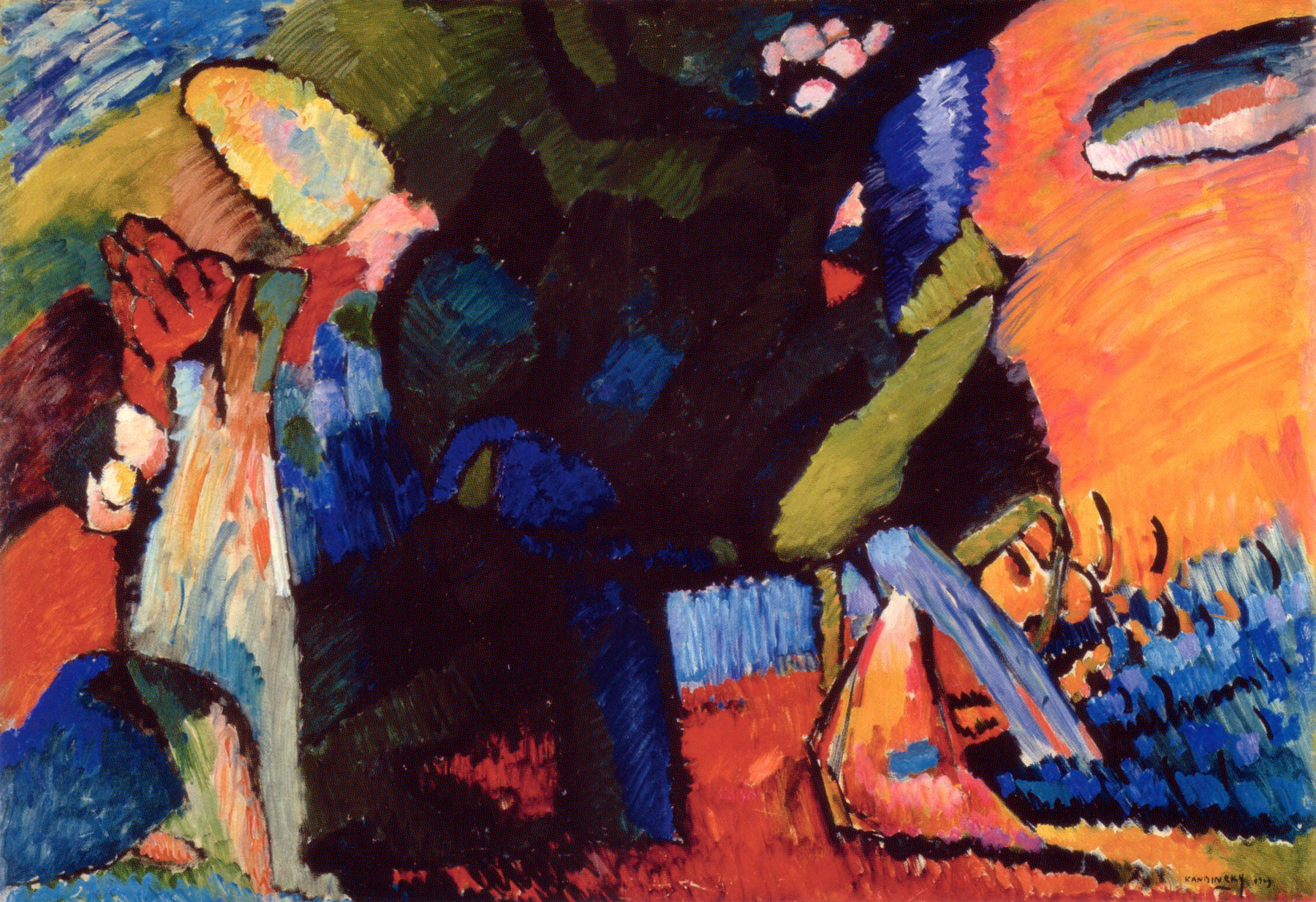 Kandinsky, Improvisação 4, 1909
