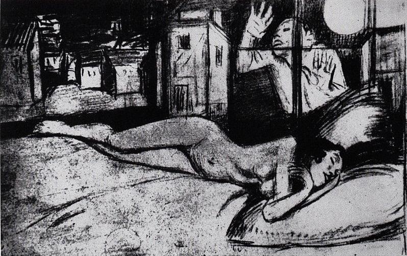 Schulz - Desenho [Adela Adormecida e Eddie], 1935
