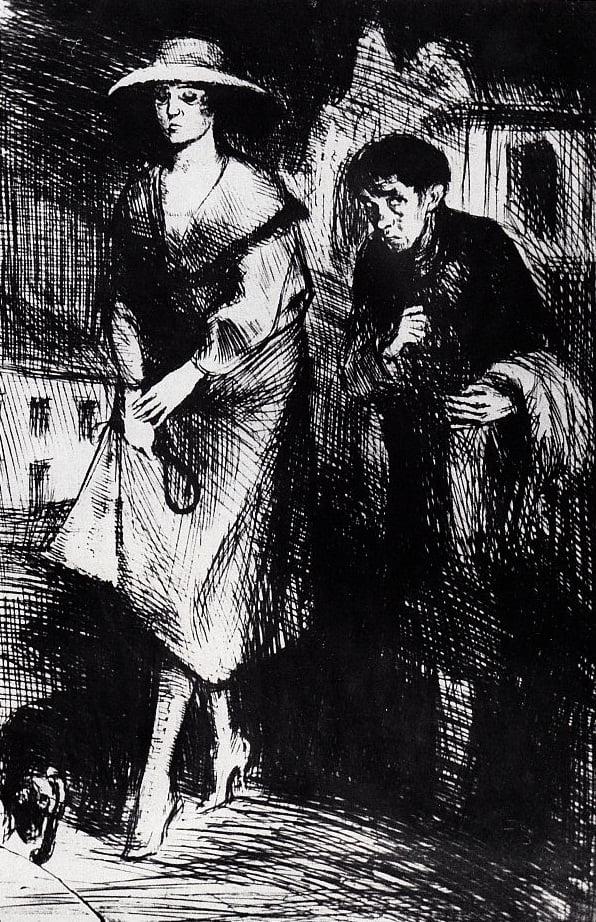 Schulz - Desenho [Undula à Noite] 1920
