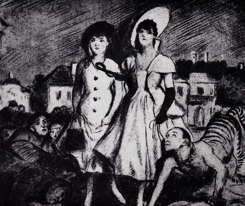 Schulz - Desenho [Undula dá um passeio], 1920