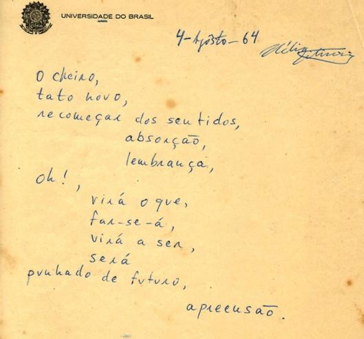 Hélio Oitica poema